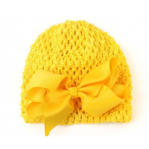 2 Pcs Hat+Hair Clip Set Toddler Kids Girls/&Boys Baby Crochet Knit Hat Beanie Cap