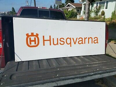 Swell Vintage Husqvarna Chainsaw Motorcycle Sign Forest Garden Advertising Wood Frame Ebay Squirreltailoven Fun Painted Chair Ideas Images Squirreltailovenorg