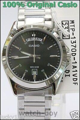 7c8b7a6fb MTP-1370D-1A1 Japan Movt New Genuine Casio Watch Date Display 50m Black New