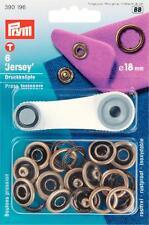 Prym Nähfrei-Druckknöpfe mit Werkzeug 18mm altmessing 6 St Jersey Niete 390196