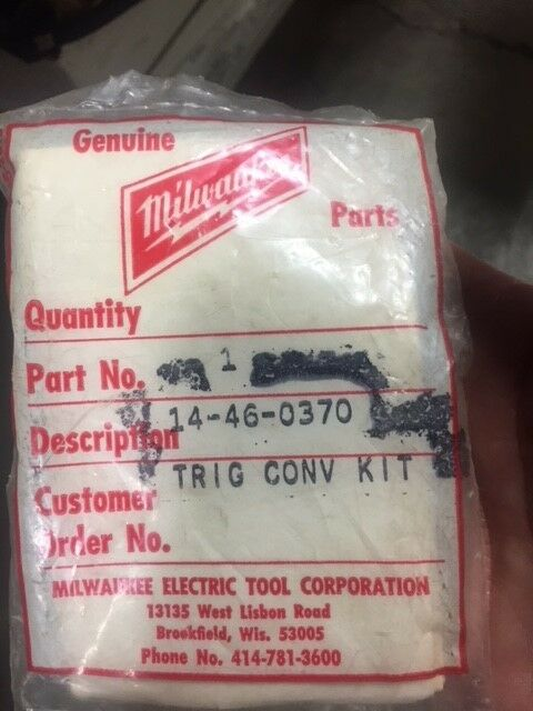 MILWAUKEE OEM TRIGGER CONVERSION KIT PART NUMBER 14-46-0370