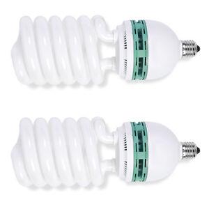 Phot-R-2x-Helix-Spiral-200W-220V-240V-E27-5500K-Photo-Studio-Daylight-Bulb-Light
