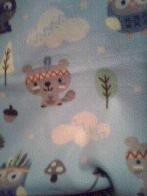Blue John Deere  car seat     36x30 kids baby gift blanket personalized fleece