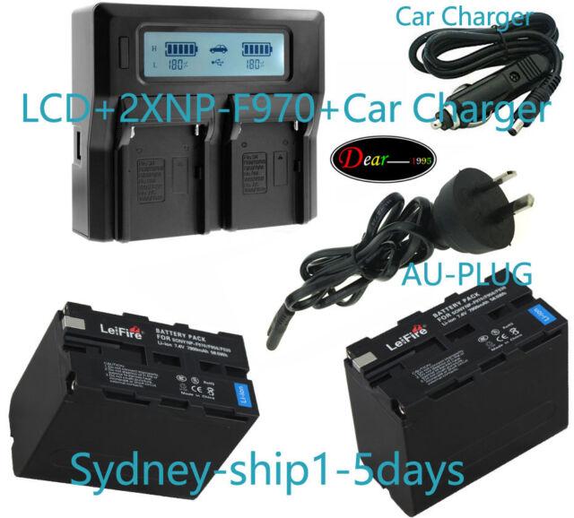 Dual AC+2x Battery for Sony NP-F970 NP-F960 CCD-SC CCD-TR CCD-TRV 7900mAh AUship