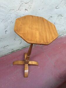 Rare OCTAGONAL COHASSET HAGERTY TABLE SCAN DESIGN MID CENTURY MODERN SIDE HALL