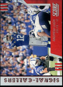 2019 Score Signal Callers Red #17 Andrew Luck Indianapolis Colts