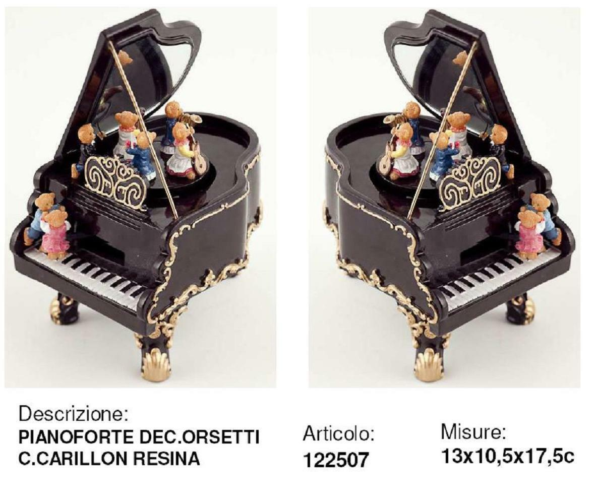 Karussell Klavier antik H.17 mit CARILLON Mechanisch bewegung Melodie 122507