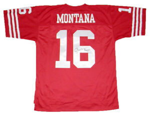 brand new 740d3 a2734 Details about JOE MONTANA SIGNED AUTOGRAPHED SAN FRANCISCO 49ERS #16  MITCHELL & NESS JERSEY
