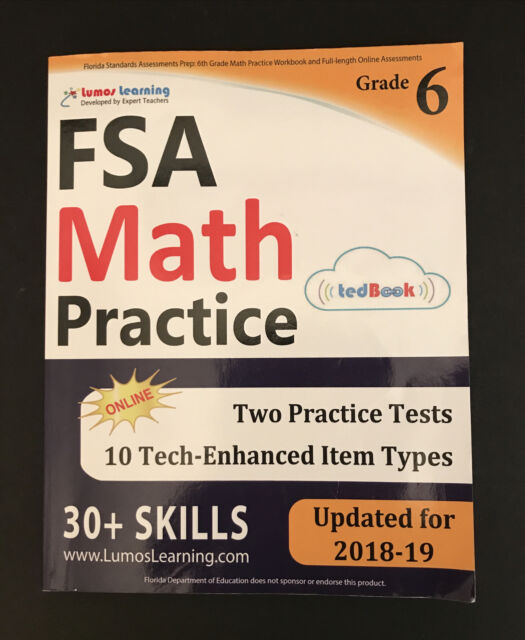 FSA Test Prep: 6th Grade Math Practice Workbook and Full ...