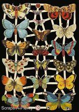 German Victorian Style Embossed Scrap Die Cut- Beautiful Butterfly / Moth EF7297