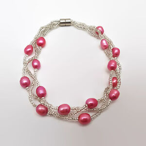Freshwater-Pearl-amp-Seed-Bead-Magnetic-Clasp-Bracelet