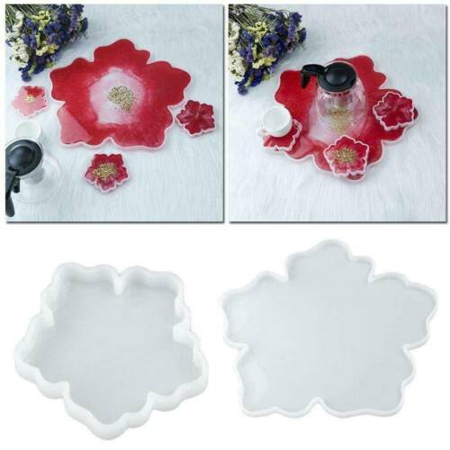 Silicone Agate Coaster Pad Casting Mold Resin Making Epoxy Mould Craft DIY Tool~