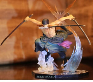 "6.7"" / 17cm One Piece Fight Battle Ver RORONOA ZORO Action Figure Toy No Box"