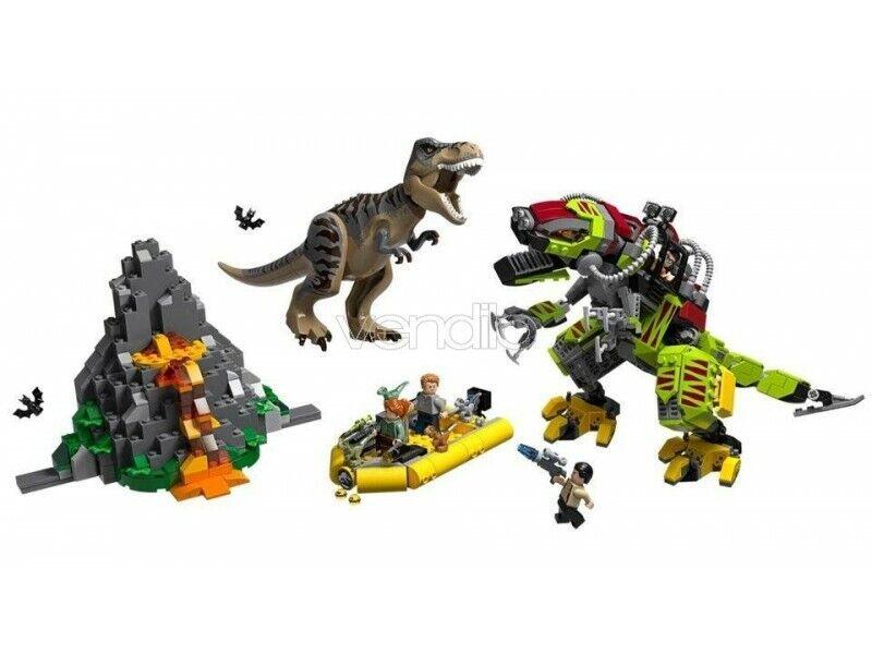 Lego Jurassic World 75938-battle between T. Rex and Dino-mech