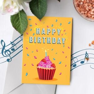 Image Is Loading 120s Birthday Greeting Card Recordable Musical Singing