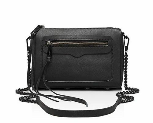 7091d2167b094 Rebecca Minkoff Avery Saffiano Leather Crossbody Black Bag Clutch  HF14MSSX10 for sale online
