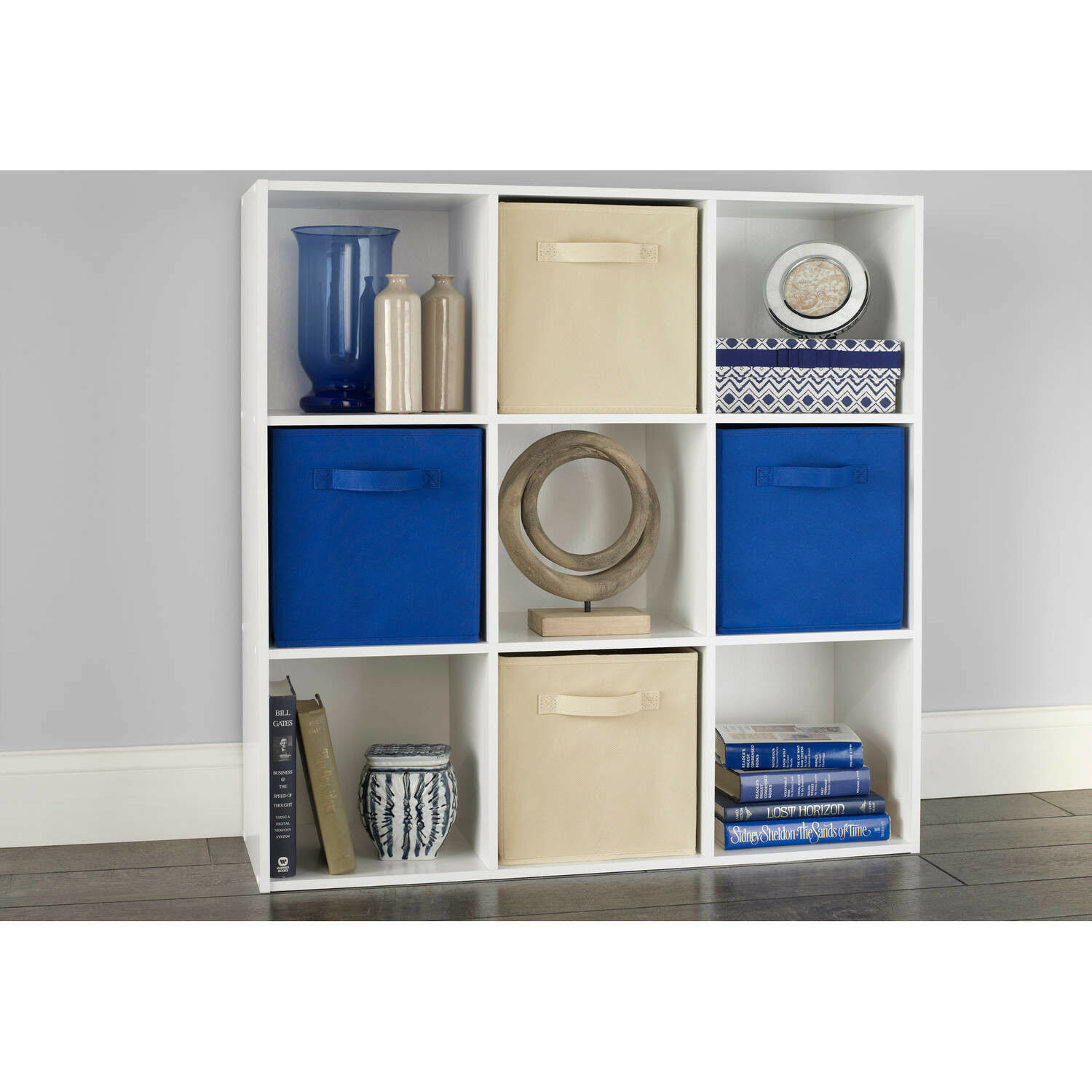 shelves stackable display cubeicals 9 cube organizer