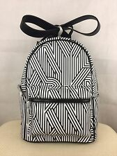 BNIP Black DKNY Authentic Designer PVC Backpack Rucksack School Bag RRP £185