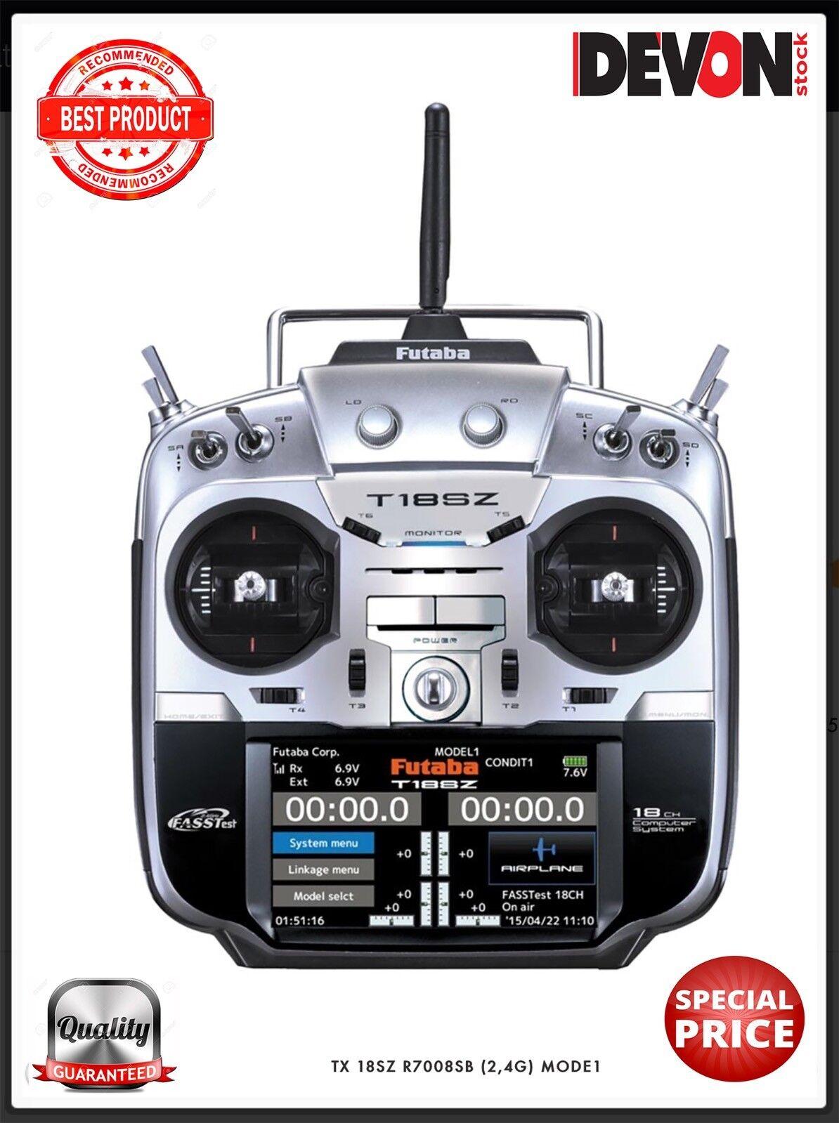 Radiocouomodo rc Futaba 18SZ ricevente R7008SB MODE1 Elicottero  Elettrico radio  risparmia il 35% - 70% di sconto