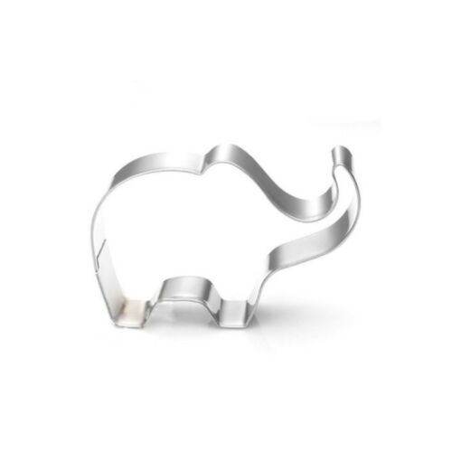 1*Elephant Animal Stainless Steel Cookie Cutter Baking Biscuit Pastry Mould IN9