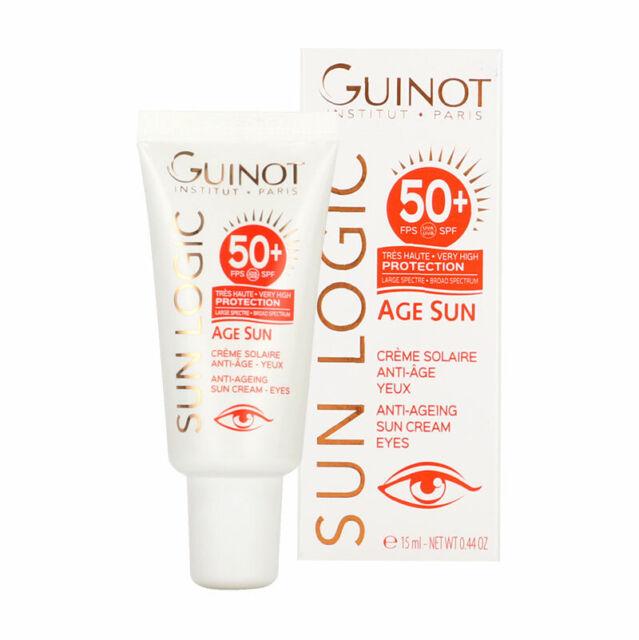 GUINOT Sun Logic Age Sun Crème solaire Anti-âge Yeux 15 ml SPF 50+ NEUF