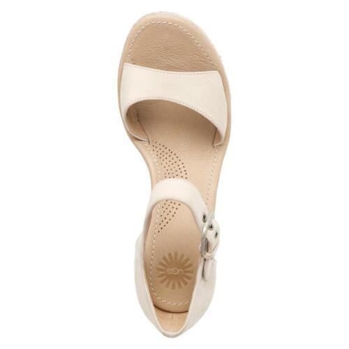 Sandales cuir crème rayures compensés talons taille à 7 à Ugg en Atasha p7wYq5