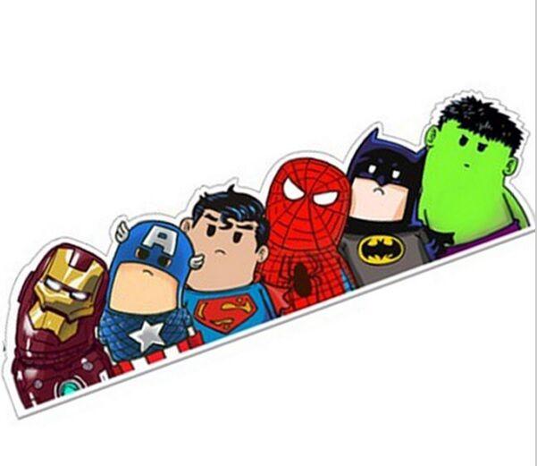 The avengers car sticker IRONMAN superman BATMAN hulk CAPTAIN AMERICA thor