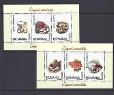 ROMANIA MUSHROOMS CHAMPIGNONS  souvenir sheet VF MNH