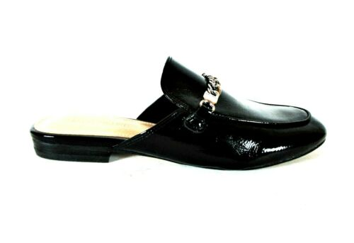 Marc Fisher Whiley Black Patent Slip On Mules Flat