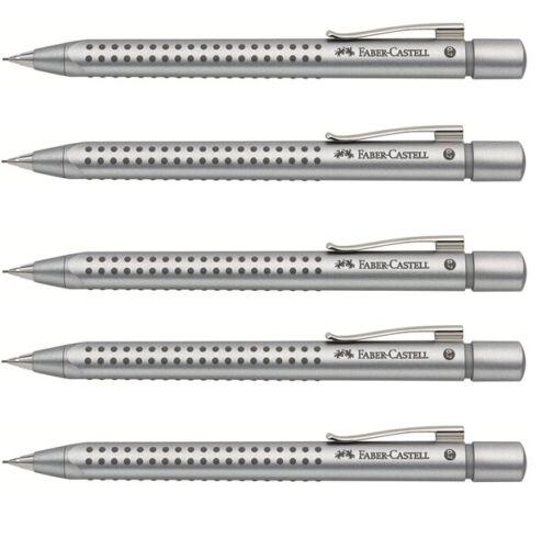Faber-Castell Druckbleistift GRIP 2011 0,7mm Silber X 5 Stück