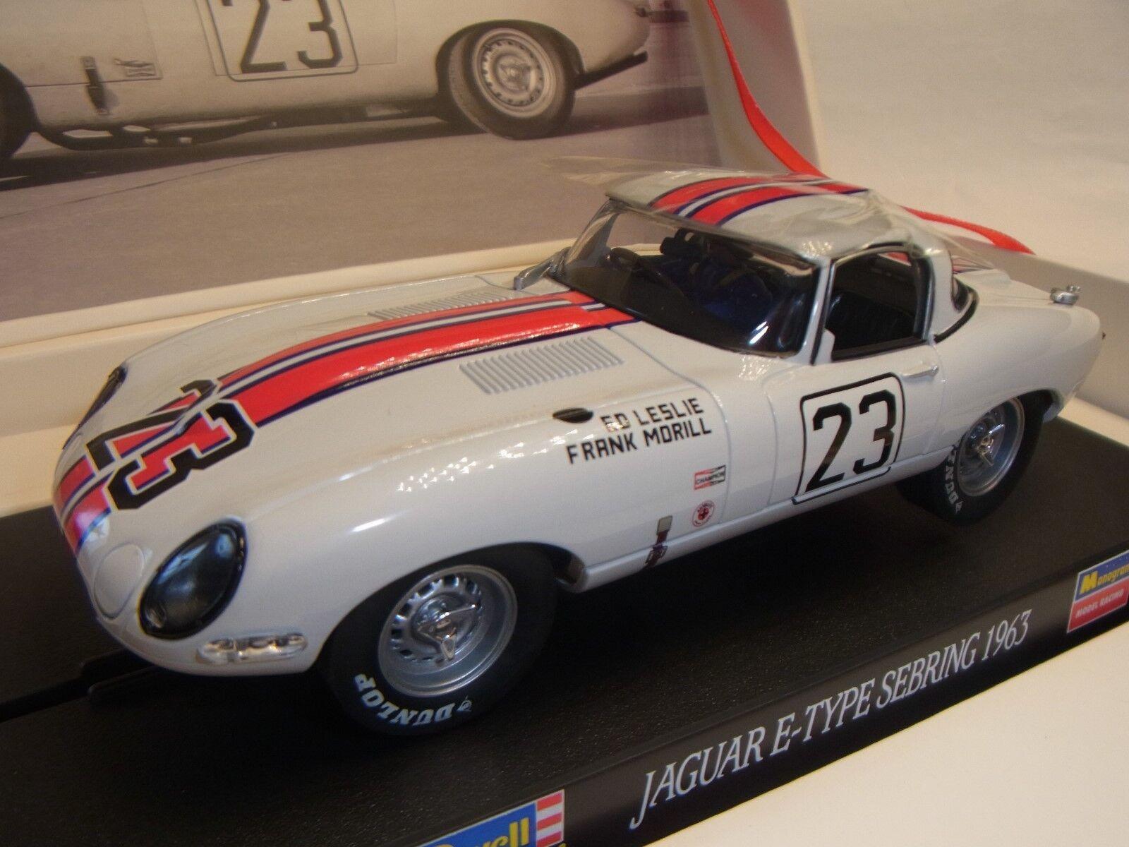 servicio honesto Revell Jaguar E-Type Sebring 1963 1963 1963 REV08394 Circuito de Slot 1  3 2 Coche Slot  diseño simple y generoso