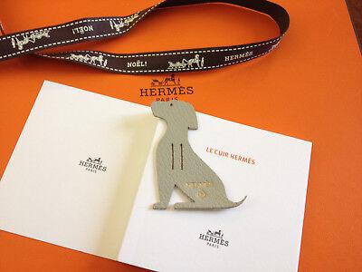 Hermès Petit H Mini Charm, Leather Piece -chien- Aspetto Bello