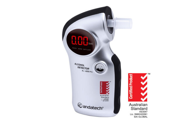 NEW - Andatech AlcoSense Pro Alcohol Blood Tester Breathalyser - AL6000