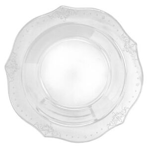 Image Is Loading Antique Collection Clear China Like Plastic Plates Various