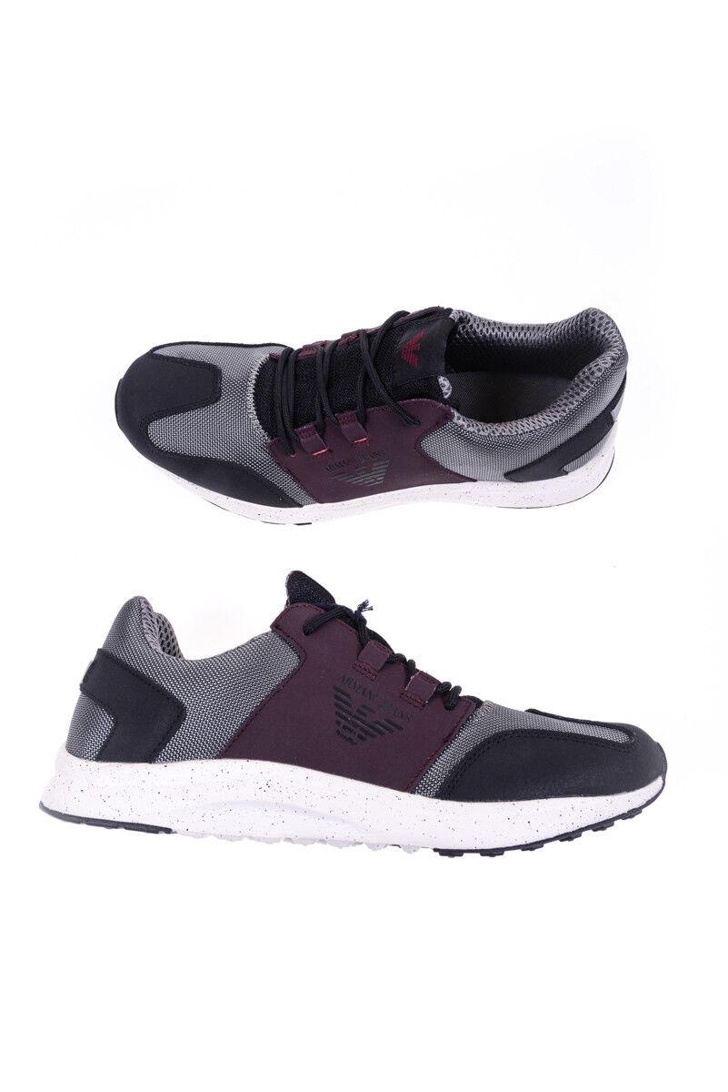 zapatos zapatilla de deporte Armani Jeans AJ zapatos Pelle hombres gris 9350376A438 2842