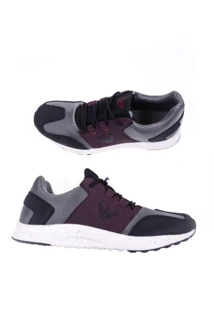 Scarpe Sneaker Armani Jeans AJ Shoes Pelle Uomo Grigio 9350376A438 2842 470402b2515