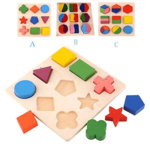 Kids-Baby-Wooden-Geometry-Educational-Toys-Puzzle-Montessori-Early-Learning