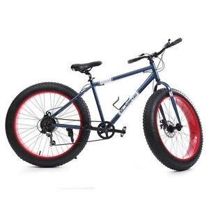 26 Mens 7 Sp Fat Tire Mountain Bike Fat Bike Snow Sand Bicycle