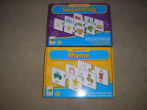 New-Lot-of-2-The-Learning-Journey-Match-It-Games-Sequencing-amp-Rhyme