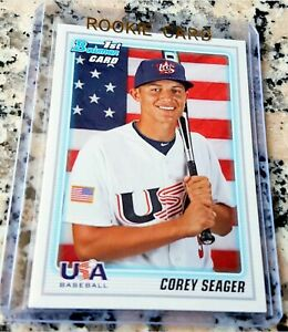 COREY-SEAGER-2010-Bowman-1-Draft-Pick-Rookie-Card-RC-Dodgers-NLCS-MVP-HOT