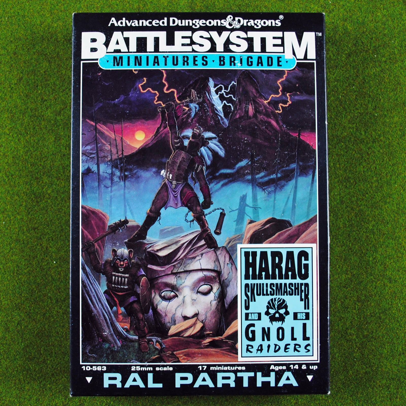 Ral Partha Battlesystem Harag Skullsmasher and Gnoll Raiders AD&D 25mm Gnolls