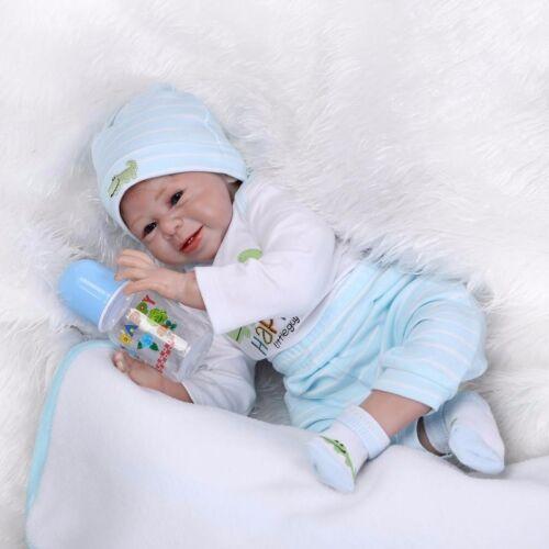 22/'/' Handmade Lifelike Baby Reborn Boy Girl DollsSolid Silicone Vinyl Doll Gift