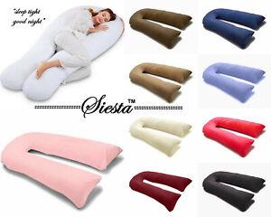 9Ft-12Ft-U-Pillow-Body-Bolster-Support-Maternity-Pregnancy-Support-Pillow-Case