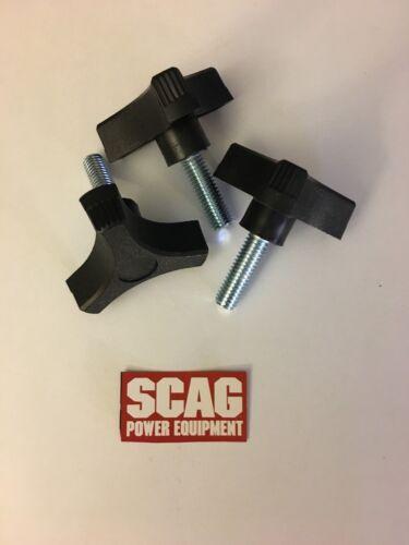 3 Original Genuine Scag OEM 3//8-16 Mower Deck Wing Nut Knob 481625-01