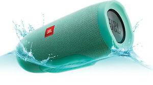 JBL Charge 3 Waterproof Portable Bluetooth Speaker (Teal) 20 Hour Playtime!!