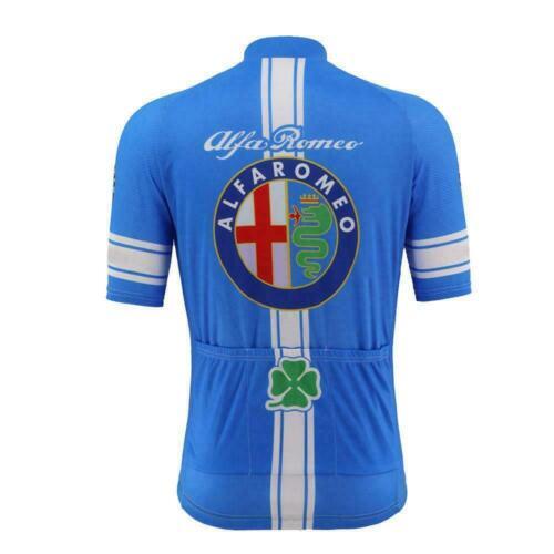 Cycling Short Sleeve Jersey Alfa Romeo Retro Cycling Jersey Retro