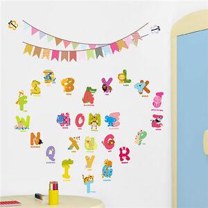 Kinderzimmer Buchstaben | Wandtattoo Kinderzimmer Buchstaben Tiere Fur Namen Alphabet Bunte