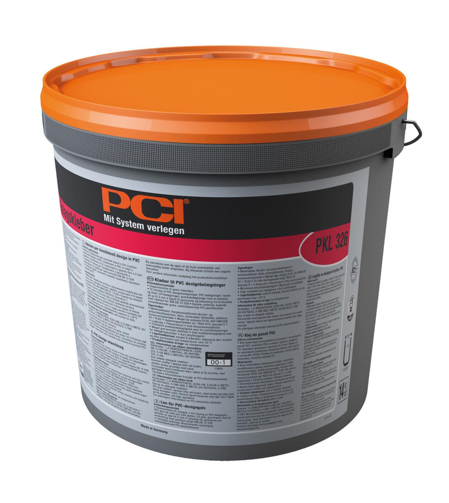 PCI PKL 326 PVC-Design-belagskleber 14 KG in Vinile Pavimentazione in tracce e piastrelle