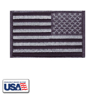 American-Flag-Black-amp-Grey-Patch-Embroidered-Military-Reversed-Made-in-USA