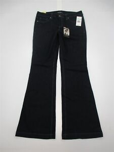 new-NINE-WEST-Jeans-Women-039-s-Size-28-Low-Rise-Stretch-Dark-Wash-Flare-Leg-WA5690